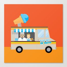 Breaking tradition - Walt and Jesse make ice cream Canvas Print