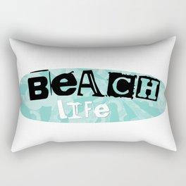Beach Life green Rectangular Pillow