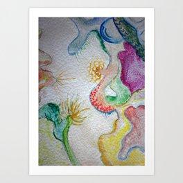 Sea flowers 2 Art Print