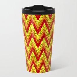 red yellow zigzag Travel Mug