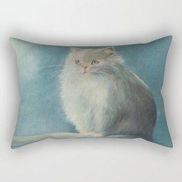 Fluffy Persian Cat Rectangular Pillow