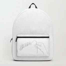 Orchid in Hand Backpack