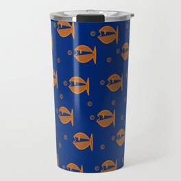 Little Fishes in a Blue Ocean Travel Mug