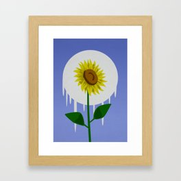 Sunflower in the Moon Framed Art Print