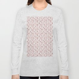 Girly Rose Gold Rosette Pattern Long Sleeve T-shirt
