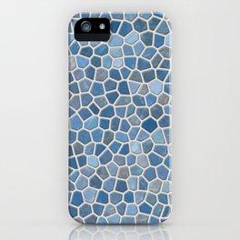 Blue Mosaic Pattern - Light iPhone Case