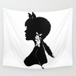 Foxy Silhouette Wall Tapestry