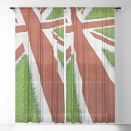 UK track and field Sheer Curtain