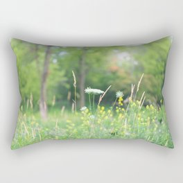 Wildflowers and the Woodland Rectangular Pillow