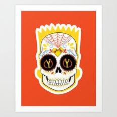 Bart de los Muertos Art Print