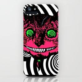 Cheshire Cat in Vortex iPhone Case