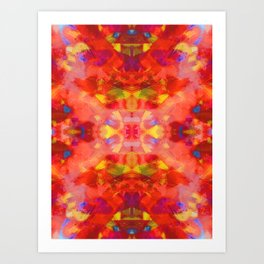 Rising on Fire Art Print