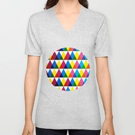 Triangle vintage multiply pattern Unisex V-Neck