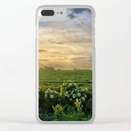 Elderberries and Soybeans Clear iPhone Case