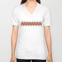 ikat V-neck T-shirts featuring Ikat by Deepti Munshaw
