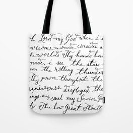 How Great Thou Art. Tote Bag