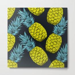 Pineapples Colors Metal Print