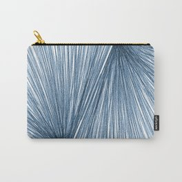 Mid Century Modern Indigo Blue Geometric Abstract Carry-All Pouch
