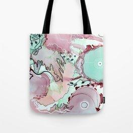 Currant and Seafoam Reef Tote Bag