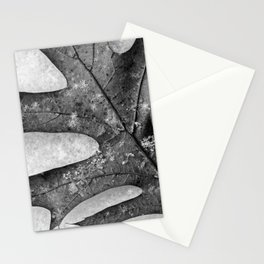 oak leaf and snowflakes Stationery Cards