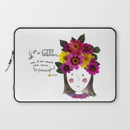 I'm a Girl Laptop Sleeve