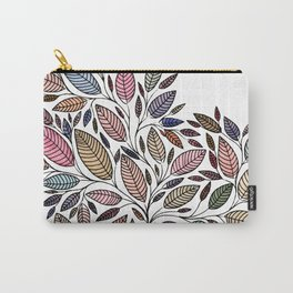 Floral Leaf Illustration *P07008 Carry-All Pouch