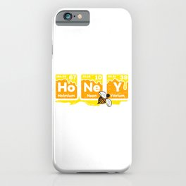Honey Periodic Table Beekeeper design Bee Hives Gift Idea graphic iPhone Case