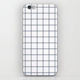 Windowpane\\Navy iPhone Skin