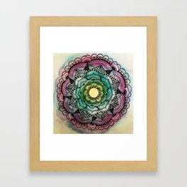 Graphic Flower Mandala Framed Art Print