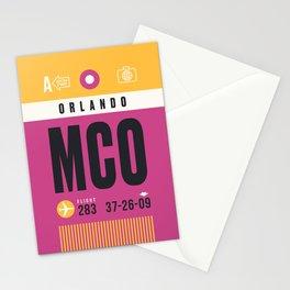 Luggage Tag A - MCO Orlando USA Stationery Cards