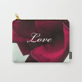 LOVE'S Red Rose Carry-All Pouch