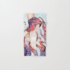 peeking tentacle Hand & Bath Towel