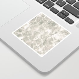 Clear water | beach fine art photography | sea wave and sand Sticker