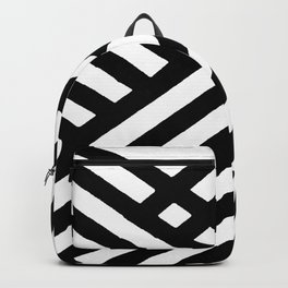 BLACK AND WHITE INTERSECTION PATTERN Backpack