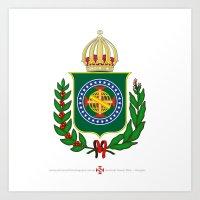 Brasão Imperial Brasileiro Art Print