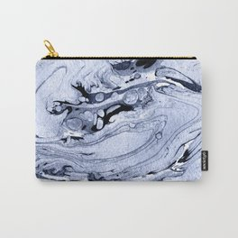 Handmade marble blue texture. Carry-All Pouch