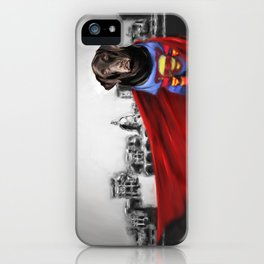 Dog of Steel in the City of Madison iPhone Case