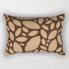 Painted Tree Leaves V2 - Brown Rectangular Pillow