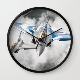 French Dassault Rafale formation Wall Clock
