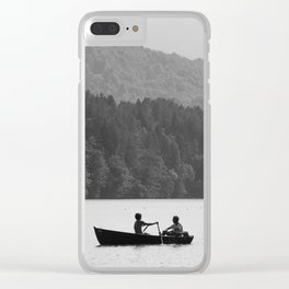 Two on a boat Clear iPhone Case