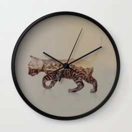 Cat: Bengal Kitten Wall Clock
