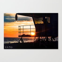 No Eclipse In Sight - Surf City September 27, 2015 Canvas Print