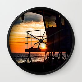 No Eclipse In Sight - Surf City September 27, 2015 Wall Clock
