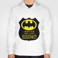 gotham Hoodies featuring Gotham City by Veronica Ventress