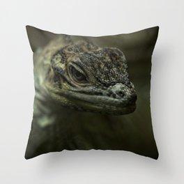 Philippine Sailfin Lizard Throw Pillow