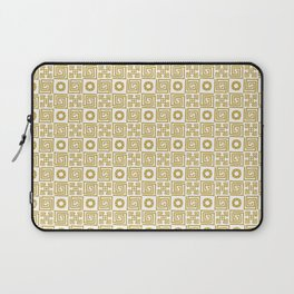 Lines and Shapes - Sunflower Laptop Sleeve
