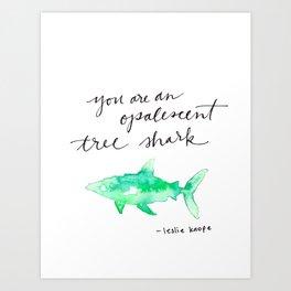 you opalescent tree shark Art Print