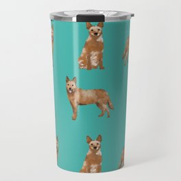 Australian Cattle Dog red heeler love dog breed gifts cattle dogs by pet friendly Travel Mug