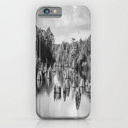 Dead Lakes Florida Black and White iPhone Case