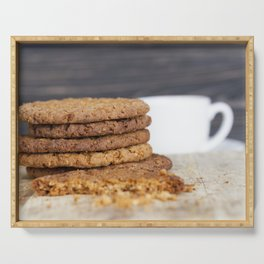 Delicious oatmeal cookies Serving Tray